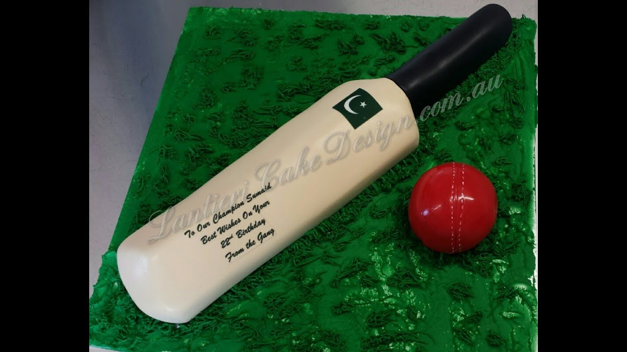 Cricket Bat And Ball Birthday Cake