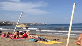 Spain Canary islands beach Playa del Ingles Islas Canarias Gran Canaria Maspalomas Verano