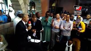 «مصطفى بكري» للنوبيين : حان الوقت لتفعيل مواد الدستور.. و«هانشرفكم»