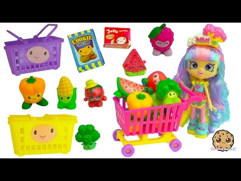 Shopping Pals Go To Small Mart Store With Shoppies Rainbow Kate Doll + Season 6 Shopkins