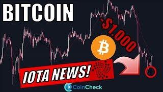 BITCOIN mit $1.000 Dump! Neuer IOTA USECASE! BTC bald in jedem Portfolio! Krypto News Deutsch