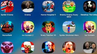 Scary Teacher 3D,Spider Granny,Granny,Granny Chapter Two,Ice Scream,Mr Meat,Ice Scream 2,Branny,