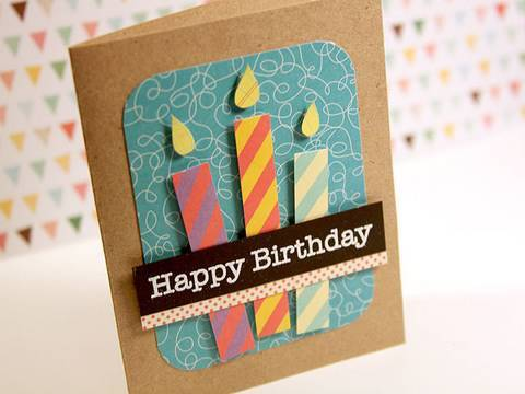 Happy Birthday Paper Pieced Candles