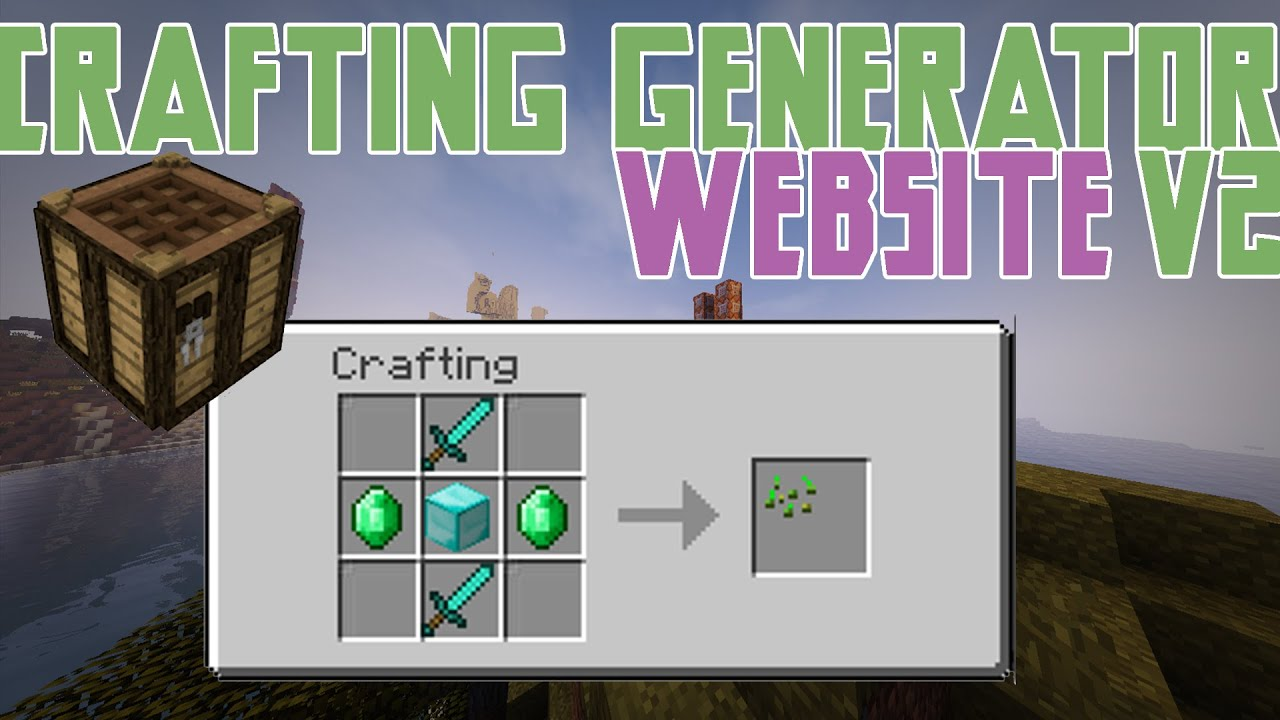 Custom Crafting Recipes Generator V2 0 Minecraft 1 9