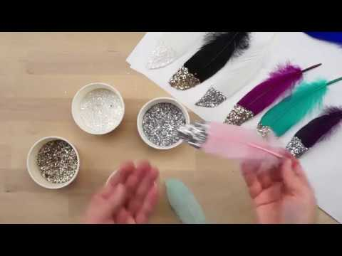 DIY Glitter Feathers The Feather Place