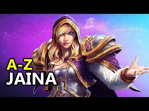 ♥ A  Z Jaina  Heroes of the Storm HotS Gameplay