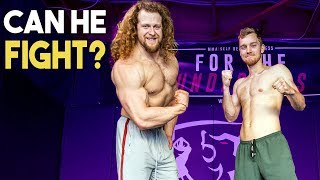 Bodybuilder Tries Boxing ft. fightTIPS