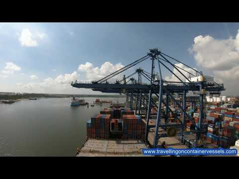 Cargo operations in the port of Dar es Salaam, Tanzania