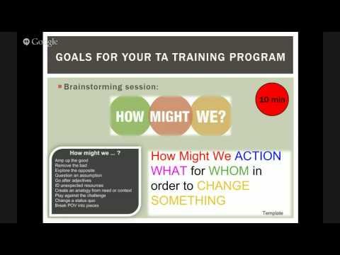 National TA Workshop Session 1 -  Principles of Instructional Design