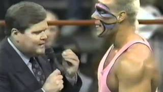 Sting interview with Jim Ross when Sid Vicious and Black Scorpion arrive