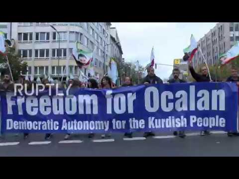 Germany: Kurds rally in Dusseldorf to demand PKK leader Ocalan's freedom