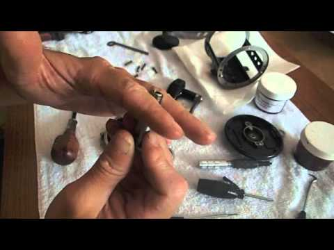 How to service Newell Fishing reel - change drags, grease, bearings, & more