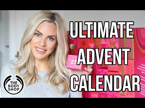 THE BODY SHOP ULTIMATE 25 DAY ADVENT CALENDAR UNBOXING 2017