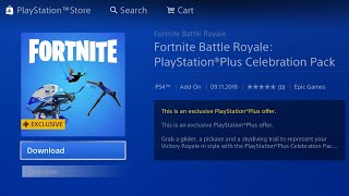 HOW TO DOWNLOAD FREE FORTNITE PLAYSTATION PLUS CELEBRATION PACK! FORTNITE FREE PS SKIN PACK #3