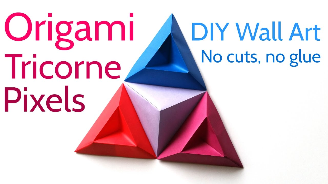 Origami Tricorne Pixels To Make Stunning DIY Paper Wall Art