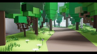 Roblox Studio | Low-poly world | TIMELAPSE #1