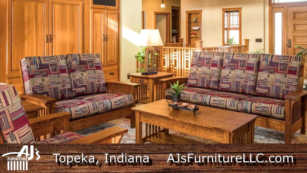 Aj S Furniture Amish Furniture Builder Topeka Indiana Youtube