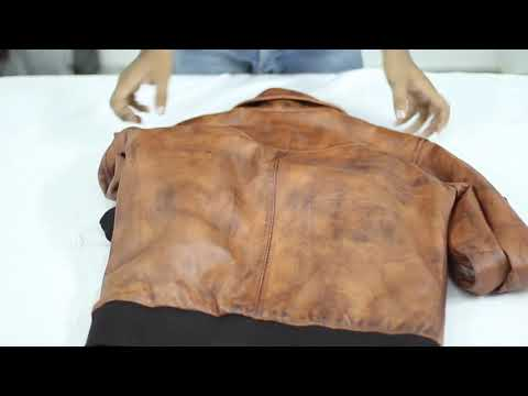 Unboxing Of Howard Tan Distressed Leather Bomber Jacket | Film Jackets