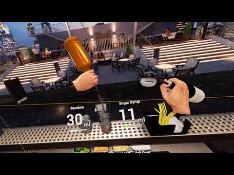 HTC Vive - Bartender VR - Moving up to the Rooftop Lounge Bar