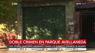 Bomberos apagaron un incendio en una casa de Parque Avellaneda y hallaron a dos jóvenes asesinados