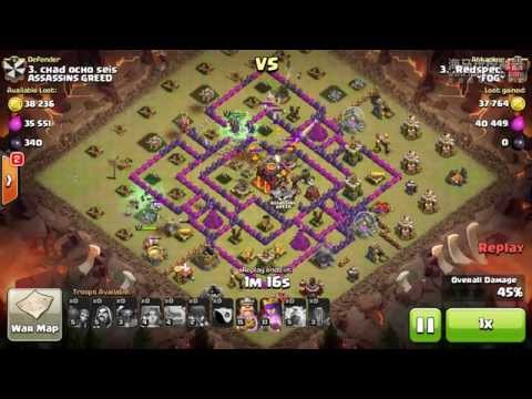 Clash of Clans - Destroy Inferno Tower with Lightning and Earthquake Spell