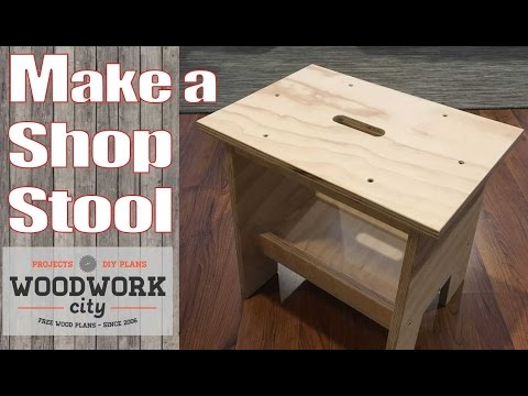 Build a Simple Stool - Perfect stool / bench for the shop and home DIY - How To Plan