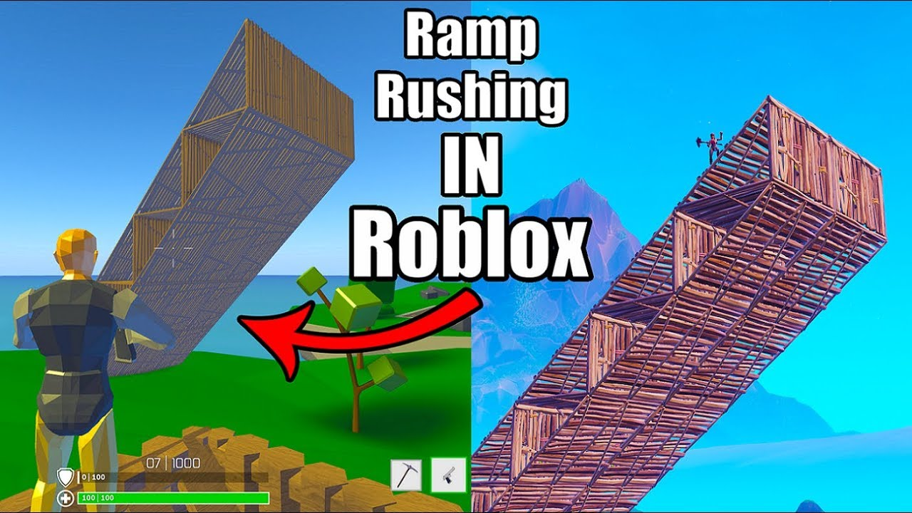 I Tried RAMP RUSHING on Roblox Fortnite (Strucid Battle Royale)