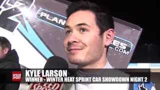 Kyle Larson wins 2nd night of Winter Heat Sprint Car Showdown - SPEED SPORT