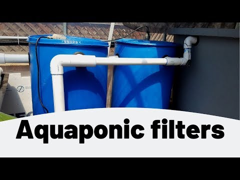 Aquaponic filters- swirl filter and mechanical filter- (hybrid aquaponics)