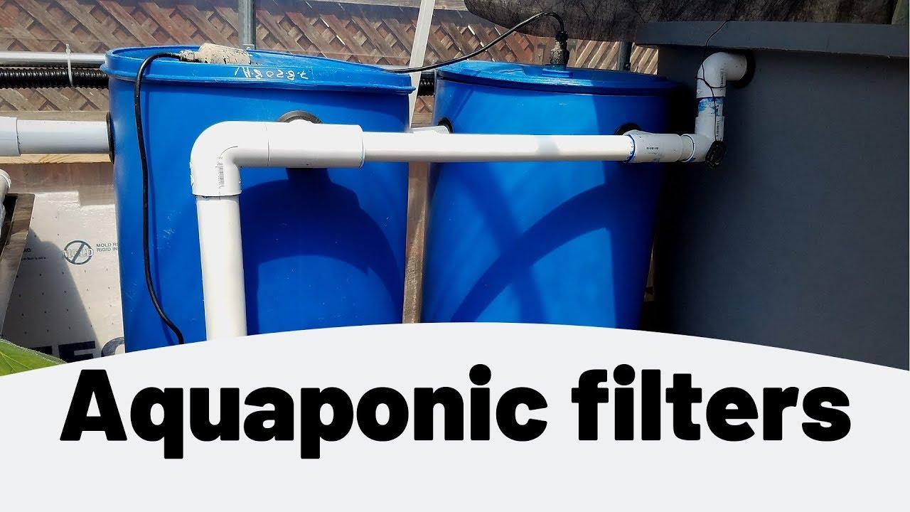 Aquaponic filters- swirl filter and mechanical filter- (hybrid aquaponics)