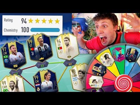 194 FUT DRAFT MYSTERY WHEEL CHALLENGE - FIFA 19