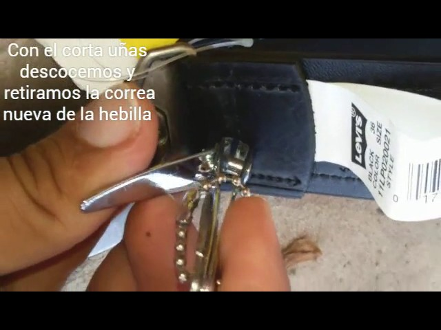 Como cambiar la hebilla de tu cinto o cinturón