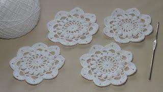 Урок вязания крючком ажурного мотива - Crochet