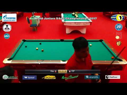YIP Kin Ling v Hsu Yi Fu World Juniors 9-ball Championship 2017