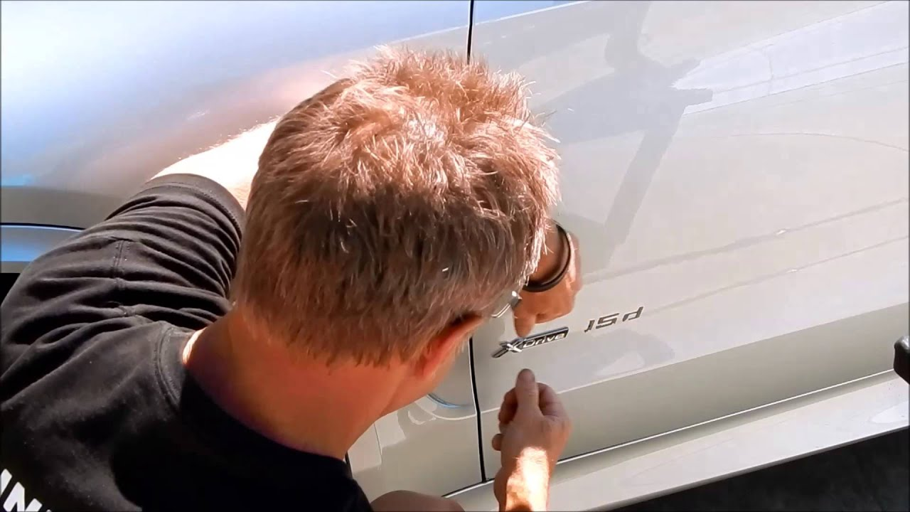 Car Emblem Removal and Install BMW X5 car badge removal and M