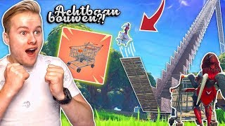 *NEW* SHOPPING CART TESTEN OP MEGA ACHTBAAN!! - Fortnite Battle Royale (Nederlands)