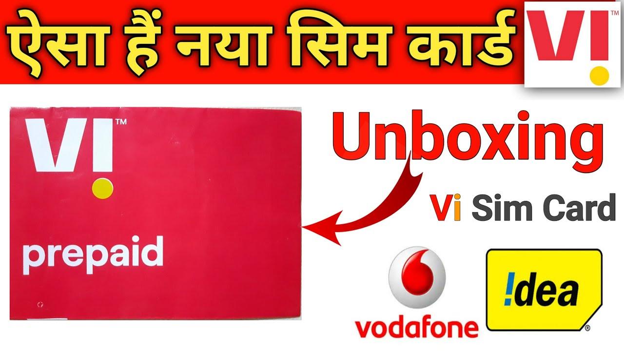 Vi New Sim Card Unboxing Idea Vodafone ReBrand Vi | Vi Sim Card Vi Sim Activation Vi Prepad Sim Card