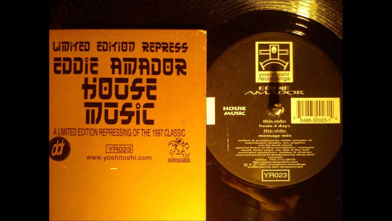 Eddie amador house music beats 4 dayz youtube for House music beats