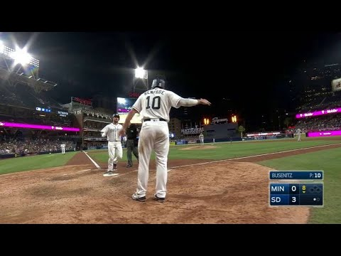 MIN@SD: Hedges belts a two-run homer to...