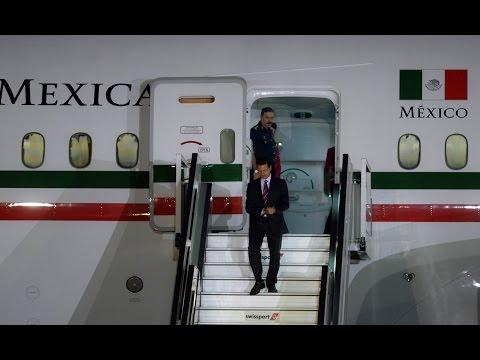 Arribo del Presidente Enrique Peña Nieto, a Lima, Perú