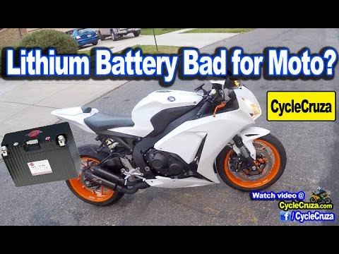 Lithium Battery Bad for Motorcycle? Pros Cons | MotoVlog