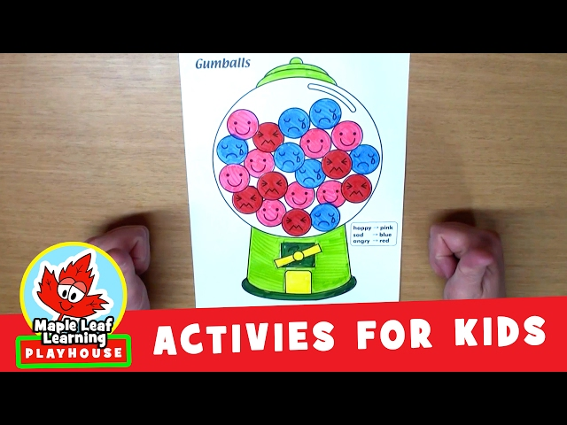 Gumball Activity for Kids   Maple Leaf Learning Playhouse