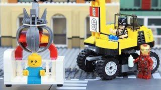 Lego Superhero BABYSITTING by EXCAVATOR