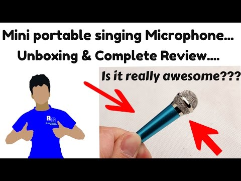 Mini Singing Karaoke Microphone. Unboxing and Complete review Is it really awesome?