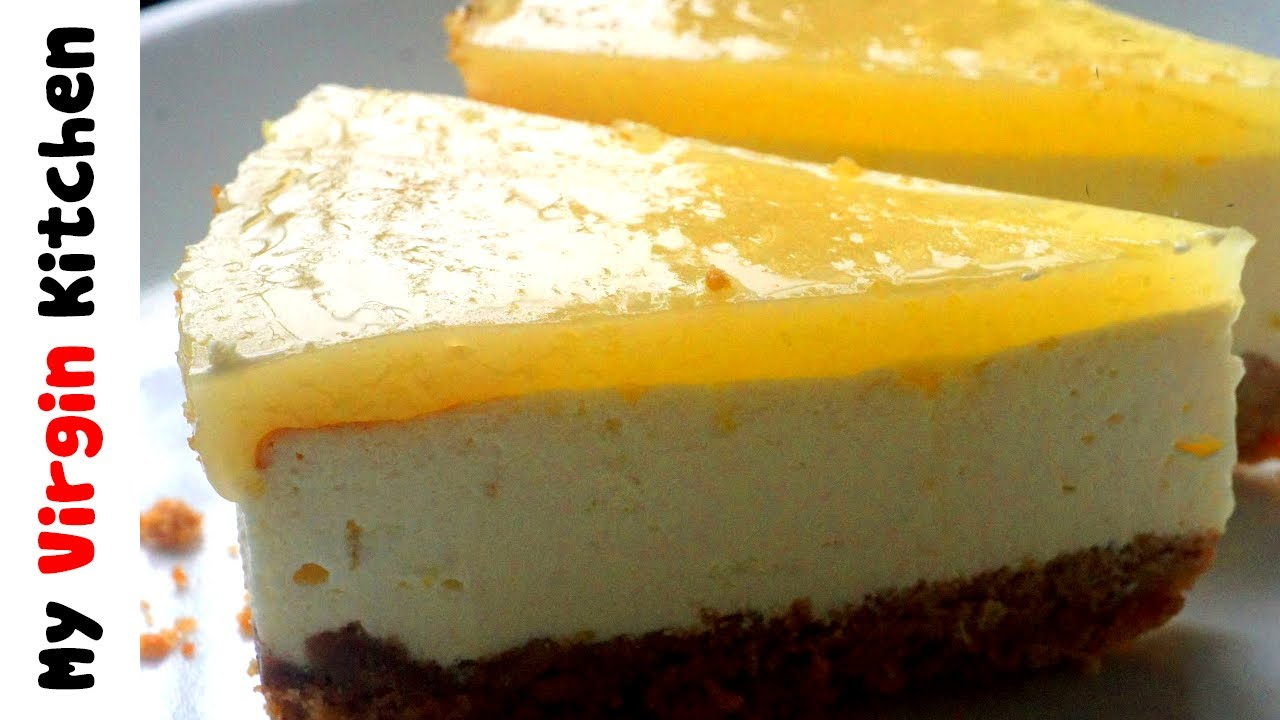NO BAKE LEMON CHEESECAKE RECIPE - YouTube