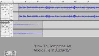 Online Biz Insiders video tutorial - How to compress an audio file in Audacity
