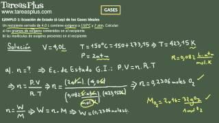 Gases y Ecuacion de Estado parte 2