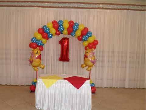 Party 141 Winnie The Pooh Boy First Birthday Balloon Decorations