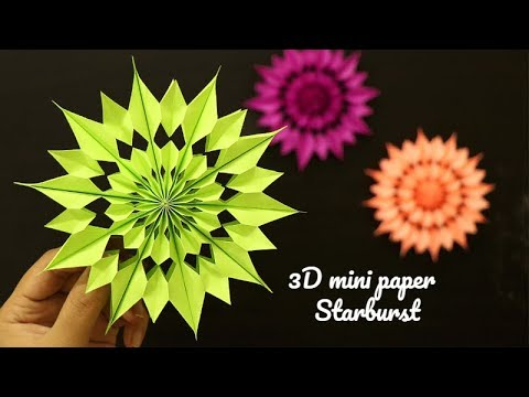 How to make paper bag star, Easy Paper Star for Christmas - How to make a paper snowflake
