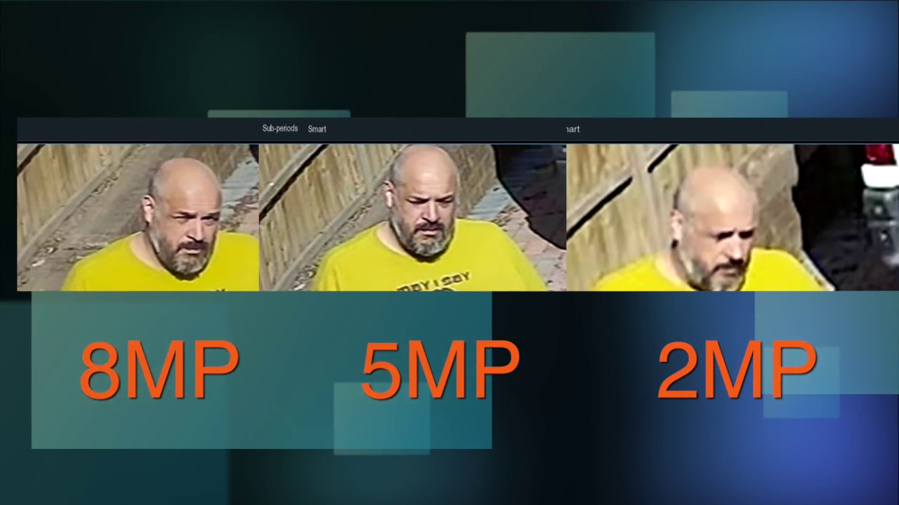 CCTV Camera 2, 5 and 8 Megapixel (4K) comparison - YouTube